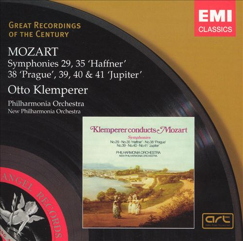 "Mozart: Symphonies Nos. 29, 35 ""Haffner"", 38 ""Prague"", 39, 40 & 41 ""Jupiter"""
