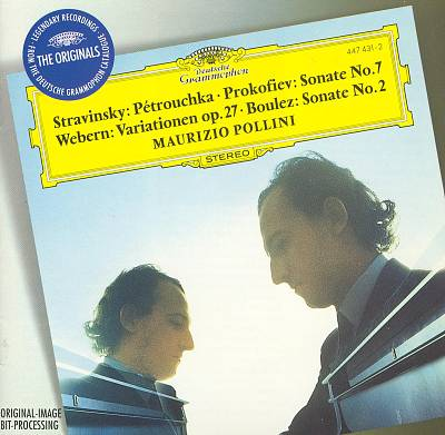 Stravinsky: Pétrouchka; Prokofiev: Sonate No. 7; Webern: Variationen op. 27; Boulez: Sonate No. 2