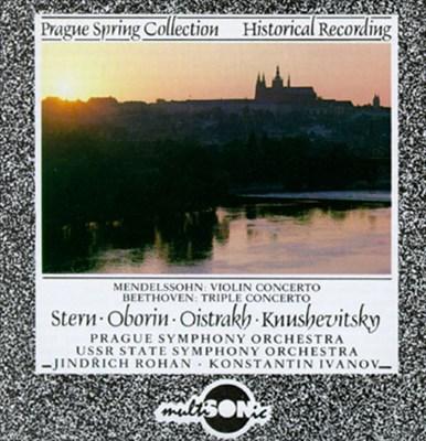 Mendelssohn: Violin Concerto; Beethoven: Triple Concerto