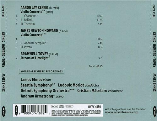 James Newton Howard, Aaron Jay Kernis: Violin Concertos