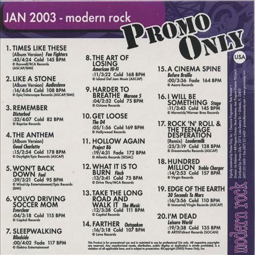 Promo Only: Modern Rock (January 2003)