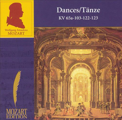 Mozart: Dances, KV65a, 103, 122, 123