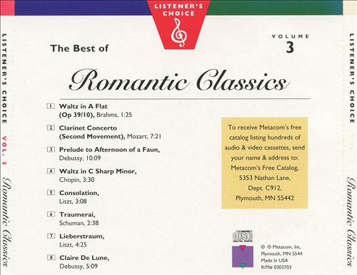 Listener's Choice, Vol. 3: The Best of Romantic Classics