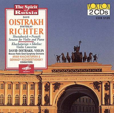 Dmitry Shostakovich, Cesar Franck: Sonatas for Violin and Piano; Aram Khachaturian, Jean Sibelius: Violin Concertos
