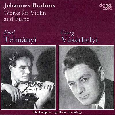 Brahms: Works for Violin & Piano