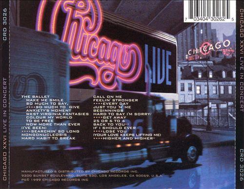 Chicago XXVI -- The Live Album