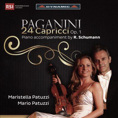 Paganini: 24 Capricci Op. 1 - Piano accompaniment by R. Schumann