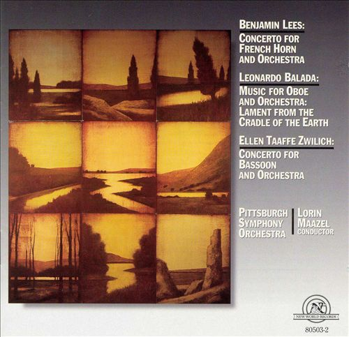 Lees: Concerto for French Horn & Orchestra; Balada: Music for Oboe & Orchestra; Zwilich: Concerto for Bassoon & Orche