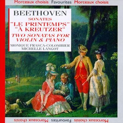 """Beethoven: Sonates """"Le Printemps"""" et """"À Kreutzer"""""""