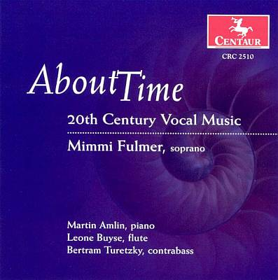 About Time: 20th Century Vocal Music