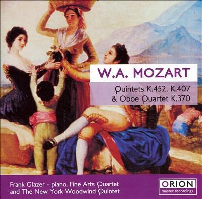 Mozart: Quintets K.452 & K.407; Oboe Quartet K.370