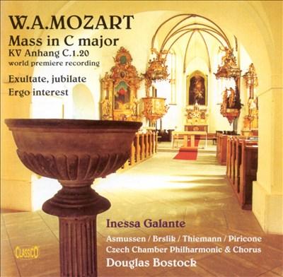 Mozart: Mass in C major; Exultate, Jubilate; Ergo Interest