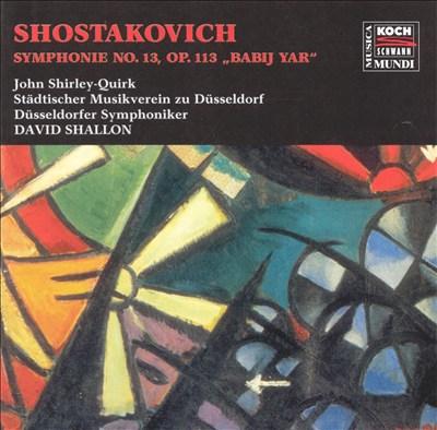 Shostakovich: Symphony 13