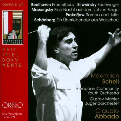 Beethoven: Prometheus; Strawinsky: Feuervogel; Mussorgsky: Eine Nacht auf dem kahlen Berge; Prokofjew: Romeo und Julia; Schönberg: Ein Überlebender aus Warchau