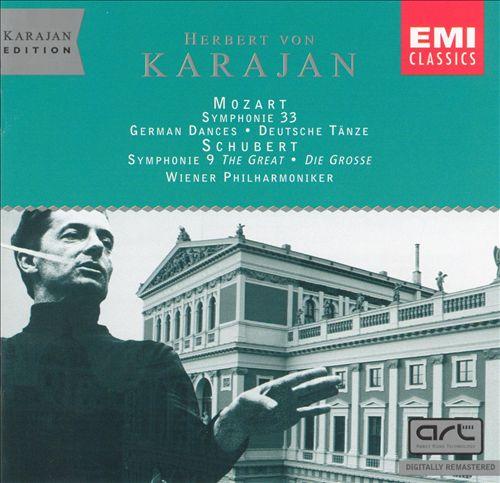 "Mozart: Symphonie 33; German Dances; Schubert: Symphonie 9 ""The Great"""