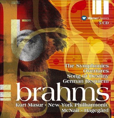 Brahms: The Symphonies; Overtures; Song Of Destiny; German Requiem