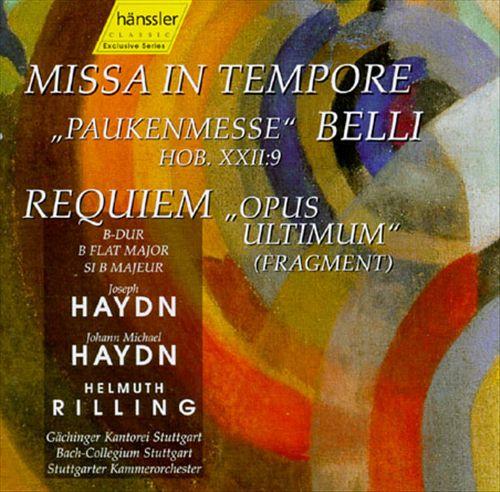 Jopeph Haydn: Missa in Tempore Belli; Jopeph Michael Haydn: Requiem B-dur