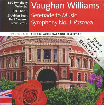 "Vaughan Williams: Serenade to Music; Symphony No. 3 ""Pastoral"""