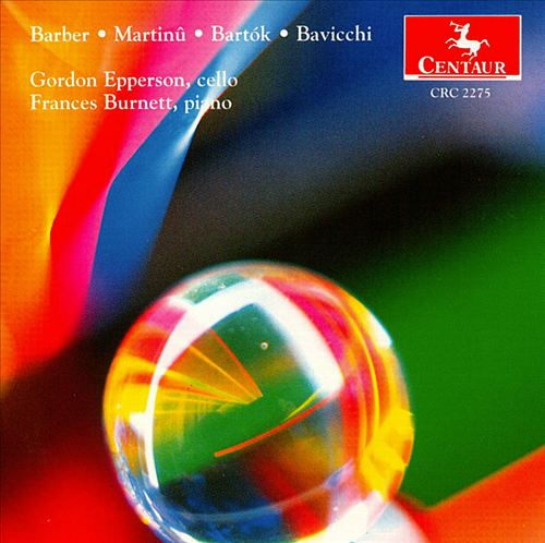 Barber; Martinu; Bartok; Bavicchi