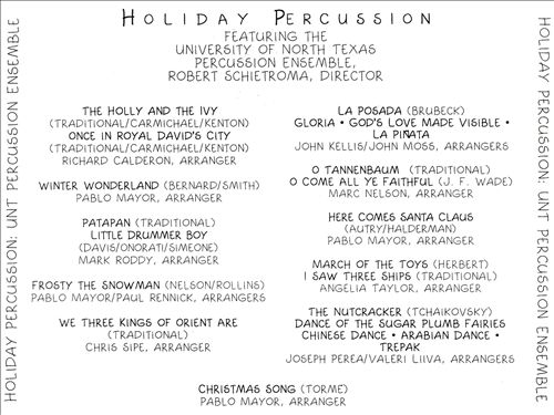 Holiday Percussion