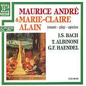 Maurice André & Marie-Claire Alain play Bach, Albinoni, Haendel