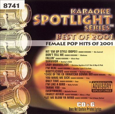 Female Pop Hits of 2001