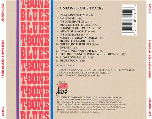 T-Bone Blues [Atlantic]