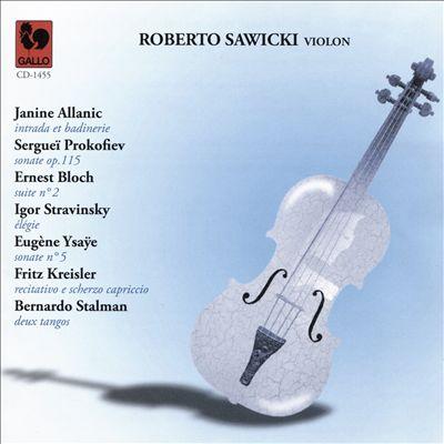 Roberto Sawicki, Violon