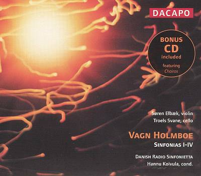 Vagn Holmboe: Sinfonias I-IV (includes bonus CD - Vagn Holmboe: Chairos)
