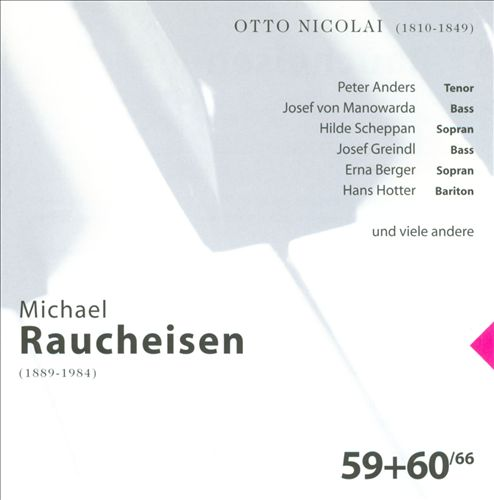 The Man at the Piano, CDs 59-60: Otto Nicolai