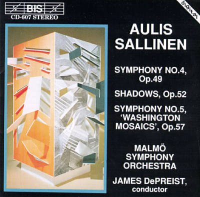 "Aulis Sallinen: Symphony No. 4; Shadows; Symphony No. 5 ""Washington Mosaics"""