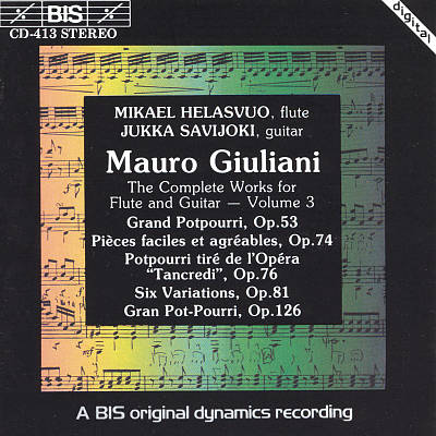 Giuliani: Complete Works for Flute & Guitar, Vol.3
