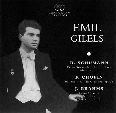 Schumann: Piano Sonata No. 1, Op. 11; Chopin: Ballade No. 1, Op. 23; Brahms: Piano Quartet No. 1