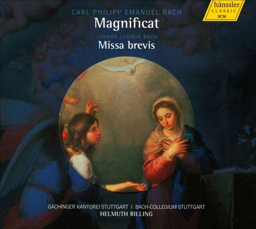 Carl Philipp Emanuel Bach: Magnificat; Johann Nikolaus Bach: Missa Brevis