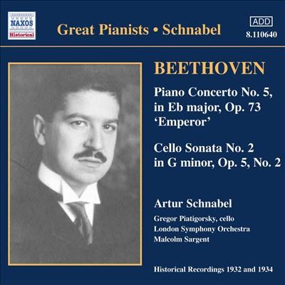 Beethoven: Piano Concerto No. 5 'Emperor'; Cello Sonata No. 2