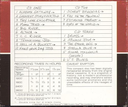 Dick's Picks, Vol. 6: Hartford Civic Center 10/14/83