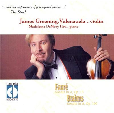 Fauré, Brahms: Sonatas for Violin & Piano