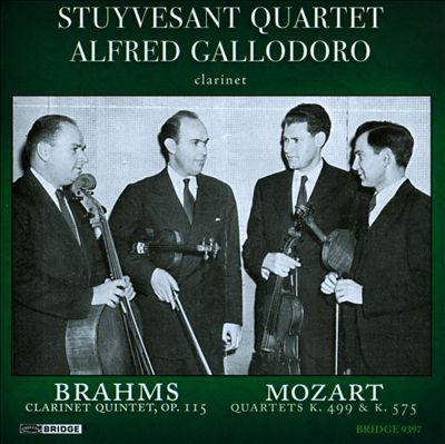 Brahms: Clarinet Quintet, Op. 115; Mozart: Quartets K499 & K575
