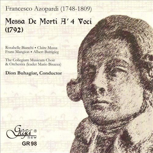 Francesco Azopardi: Messa De Morti A' 4 Voci