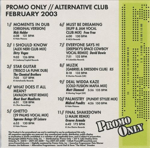 Promo Only: Alternative Club (February 2003)