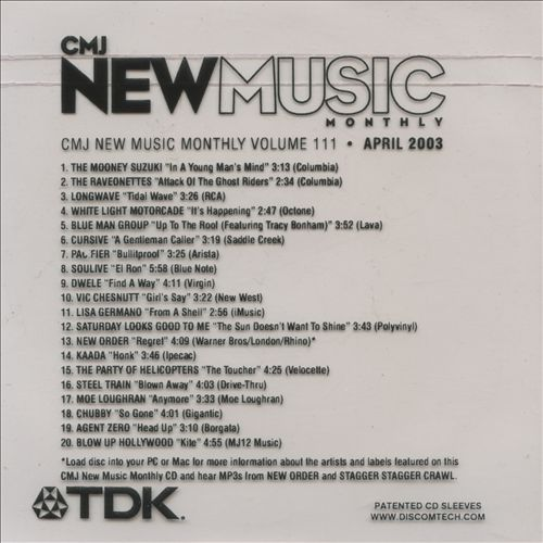 CMJ New Music, Vol. 111