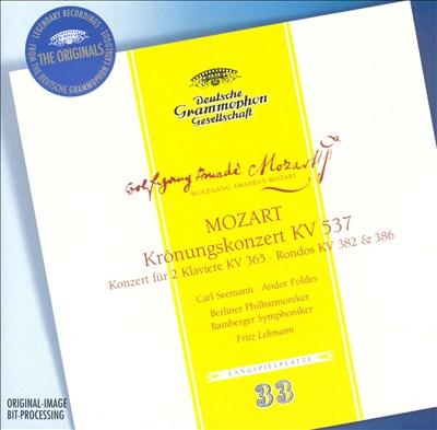 Mozart: Krönugskonzert, KV 537; Konzert für 2 Klaviere, KV 365; Rondos, KV 382 & 386