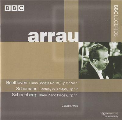 Claudio Arrau Plays Beethoven, Schumann, Schoenberg