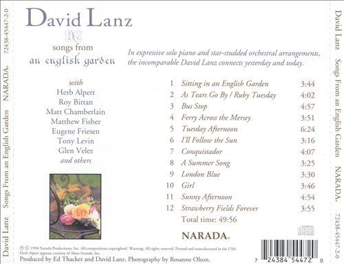 Songs from an English Garden