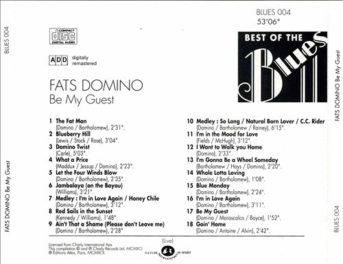 Best of the Blues: Fats Domino - Be My Guest