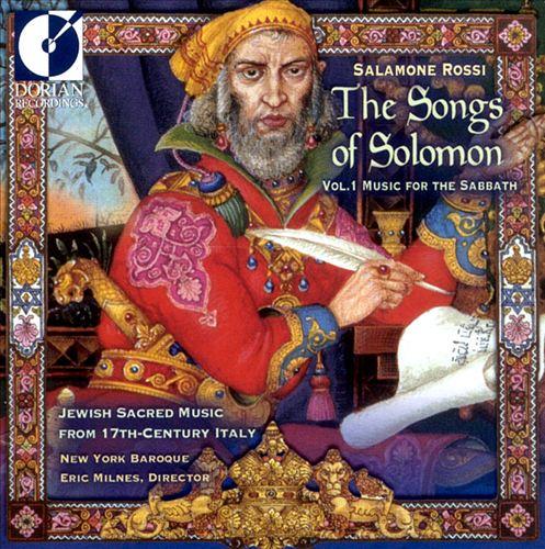 Salamone Rossi: The Songs of Solomon, vol. 1