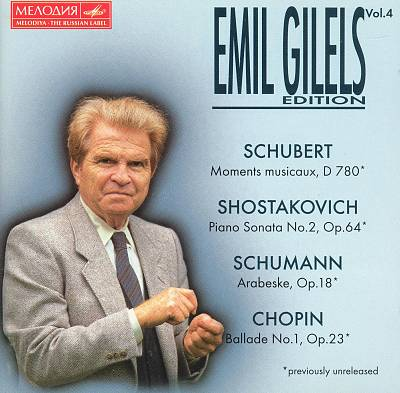 Emil Gilels Edition, Vol. 4