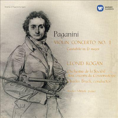 Paganini: Violin Concerto No. 1; Cantabile in D major