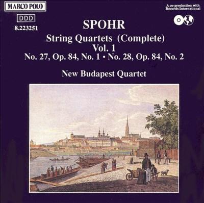 Spohr: Complete String Quartets, Vol. 1