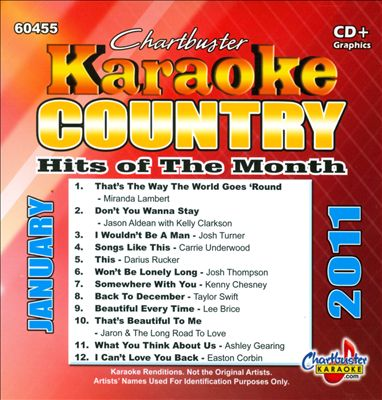 Chartbuster Karaoke: Country Hits Of The Month, January 2011